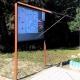Gablota zew. wolnostojąca GOZ-WL 150x100cm H-200cm
