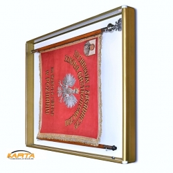 Gablota na sztandar GSZ-Z 100x100x10cm