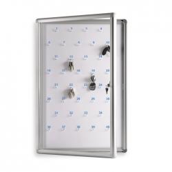 Gablota na klucze GO-KL 80x120cm (150kl.) z numeracją