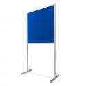 Tablica wolnostojąca 120x100x190cm tekstylna niebieska