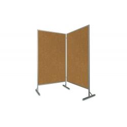 Tablica parawan 2x100x170x190cm dwumodułowy wolnostojący