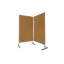 Tablica parawan dwumodułowy wolnostojący 2x100x170x190cm korek