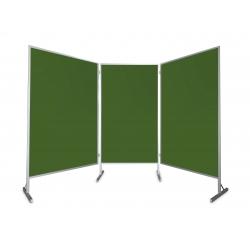Tablica parawan trzymodułowy wolnostojący 3x100x170x190cm kreda
