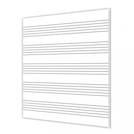 Pięciolinia 120x100cm tablica magnetyczna suchościeralna