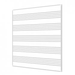 Pięciolinia 170x100cm tablica magnetyczna suchościeralna