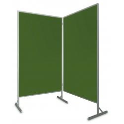 Tablica parawan dwumodułowy wolnostojący 2x100x170x190cm kreda