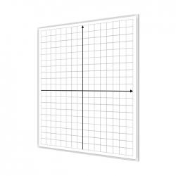 Układ współrzędnych 85x100cm tablica magnetyczna suchościeralna