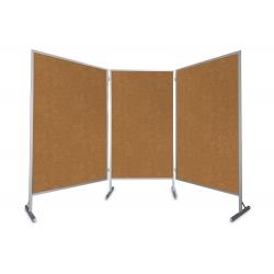 Tablica parawan 3x100x170x190cm trzymodułowy wolnostojący