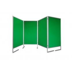 Tablica parawan 4x100x170x190cm dwumodułowy wolnostojący