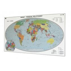 Świat Polityczny 200x110cm. Mapa do wpinania.